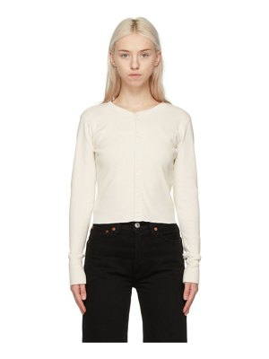 RE/DONE off-white hanes edition 50s cropped cardigan