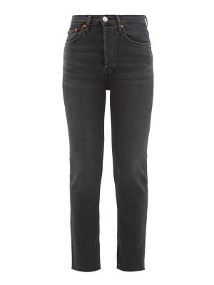 RE/DONE ORIGINALS high rise cropped skinny jeans