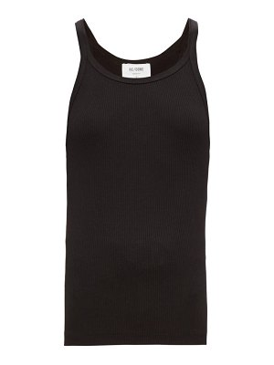 RE/DONE ORIGINALS ribbed cotton cami top