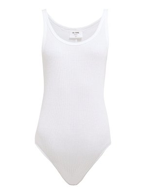 RE/DONE ORIGINALS ribbed cotton jersey sleeveless bodysuit