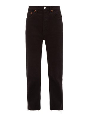 RE/DONE ORIGINALS stove pipe high-rise jeans