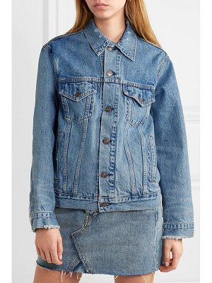 RE/DONE oversized distressed denim jacket