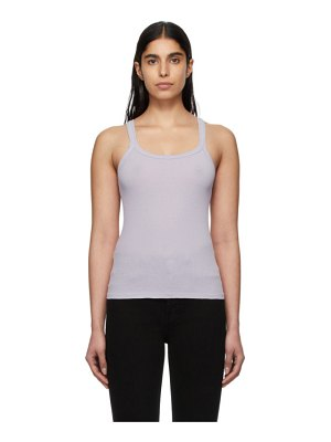 RE/DONE purple ribbed tank top