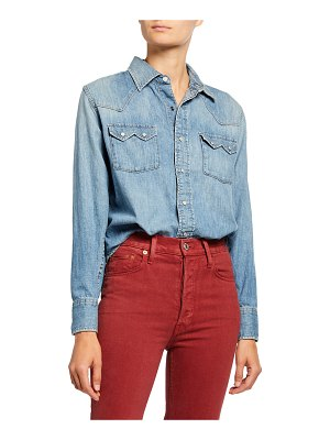 RE/DONE Sawtooth Western Snap-Front Shirt