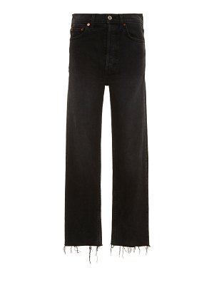 RE/DONE stovepipe high-rise straight-leg jeans