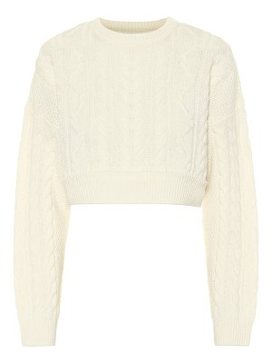 RE/DONE wool and cashmere cable-knit sweater