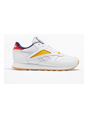 Reebok classic leather sneakers in white with color details
