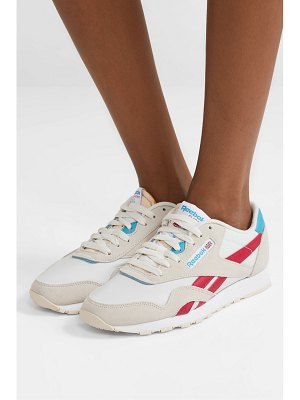 Reebok classic mesh, suede and leather sneakers