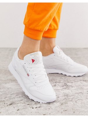 Reebok classic white leather trainerss