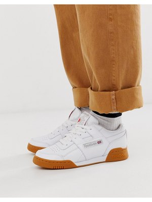 Reebok classic workout sneakers with gum sole-white