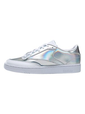 Reebok club c 85 sneakers in white and silver
