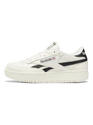 Reebok club c double sneakers in off white with black details