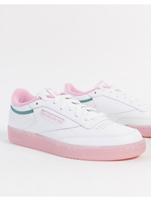 Reebok club c sneaker in pink and green-white