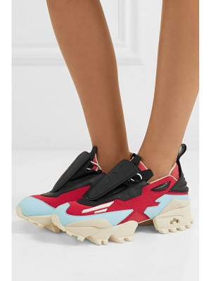 Reebok pyer moss mesh and leather sneakers