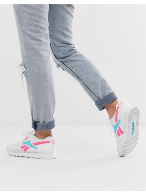 Reebok rapide sneakers in pink and blue-white