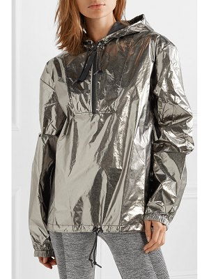 Reebok x Victoria Beckham metallic foiled shell hooded track jacket