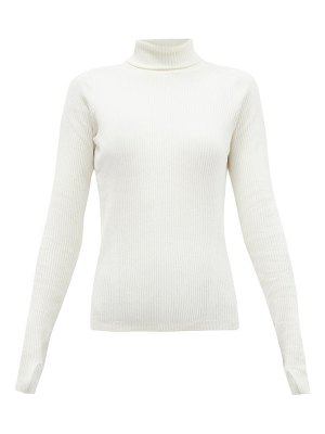 Reebok x Victoria Beckham roll-neck ribbed wool-blend top