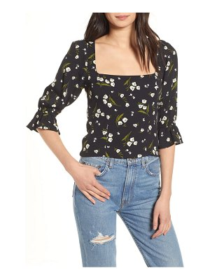 REFORMATION ana floral square neck top