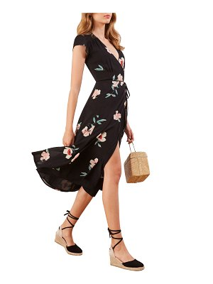 REFORMATION carina midi wrap dress