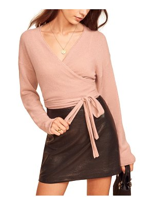 REFORMATION cashmere wrap sweater