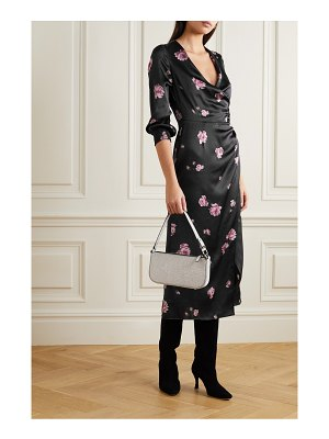 REFORMATION chantelle wrap-effect floral-print silk-satin midi dress