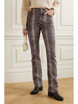 REFORMATION cindy snake-print high-rise bootcut jeans