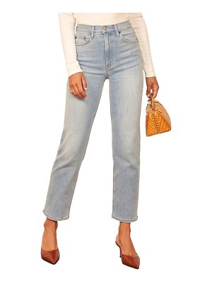 REFORMATION claudia high waist relaxed fit organic cotton jeans
