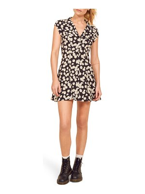REFORMATION concord button front dress