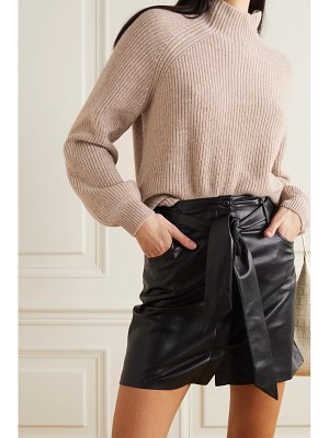 REFORMATION georges ribbed cashmere turtleneck sweater