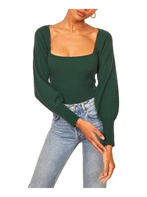 REFORMATION isabel ribbed cashmere sweater