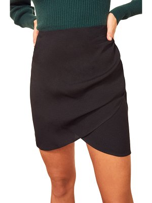 REFORMATION jemma ruched front miniskirt