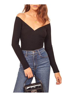 REFORMATION minnie off the shoulder top