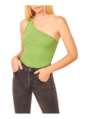 REFORMATION mojave one-shoulder organic cotton tee