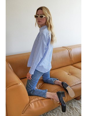 REFORMATION parker relaxed button-up shirt