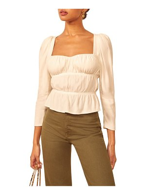 REFORMATION plath square neck crepe top