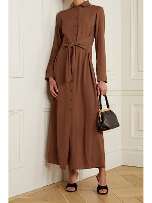 REFORMATION robin tie-front georgette maxi shirt dress