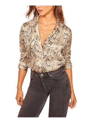 REFORMATION sky silk top