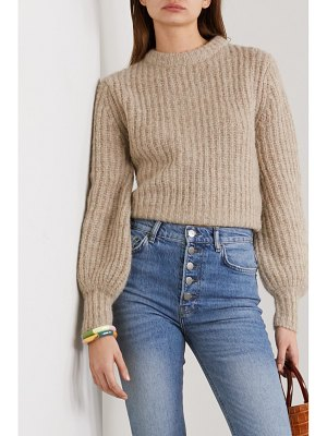 REFORMATION tatum ribbed alpaca-blend sweater