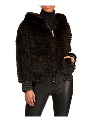 Reich Furs Russian Sable-Quilted Hoodie