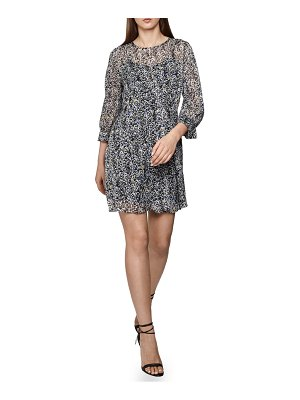 REISS burnout ditsy dress