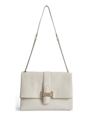 REISS maya leather shoulder bag