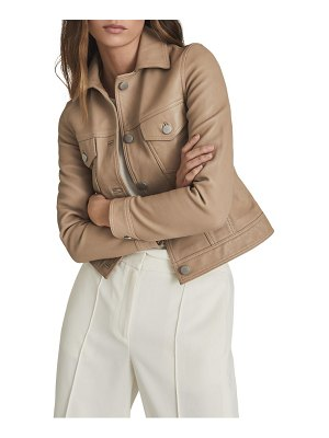 REISS piper leather jacket
