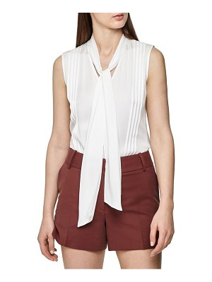 REISS trudie pintuck sleeveless blouse