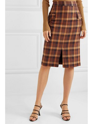 REMAIN Birger Christensen maine checked cotton-blend pencil skirt
