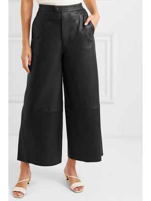 REMAIN Birger Christensen manu cropped leather wide-leg pants