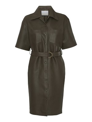 REMAIN Birger Christensen puglia leather shirtdress