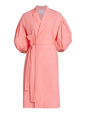 REMAIN Birger Christensen west poplin wrap dress