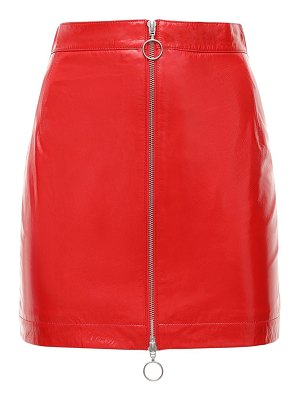Remain Lizzie patent leather mini skirt