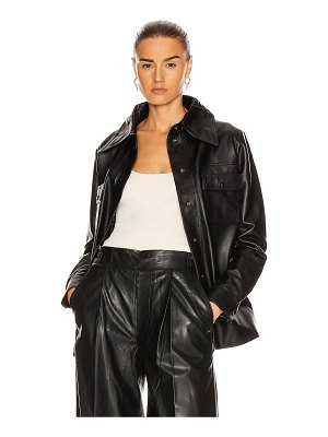 Remain rosalee long sleeve leather shirt