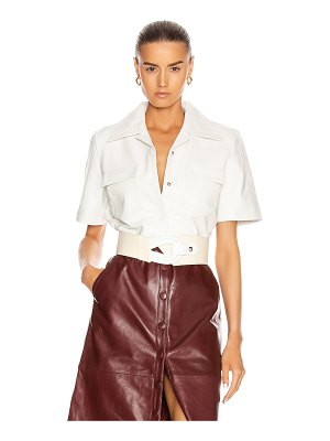 Remain sienna leather shirt